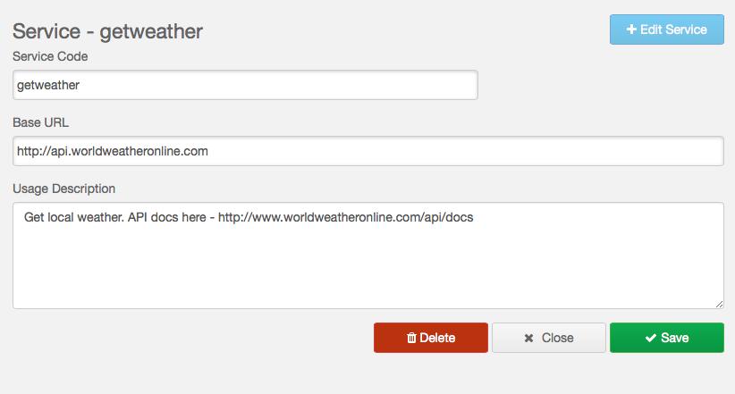 GetWeatherOnline Web Service